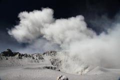 Erupción de Volcan Ubinas en Perú Foto de archivo