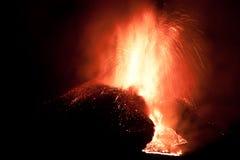 Erupción del Etna Foto de archivo libre de regalías