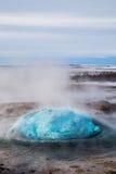 Erupción del géiser Imagen de archivo libre de regalías