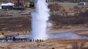 Erupción del géiser en Islandia metrajes
