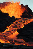 Erupción del volcán Imagen de archivo libre de regalías