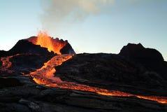 Erupción del volcán Foto de archivo