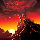 Erupción del volcán fotografía de archivo libre de regalías
