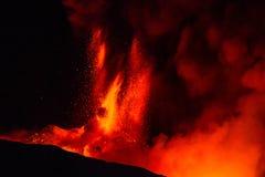 Erupción el Etna Imagenes de archivo