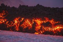 Erupción espectacular de Volcano Etna, Sicilia, Italia imagen de archivo libre de regalías