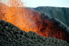 Erupción volcánica Fotografía de archivo libre de regalías