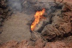 Erupción volcánica Imagenes de archivo