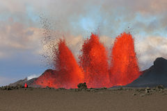 Erupción volcánica Imágenes de archivo libres de regalías