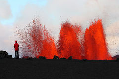 Erupción volcánica Fotos de archivo libres de regalías