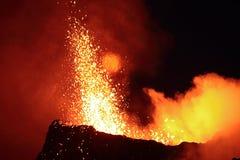 Erupción volcánica Imagen de archivo libre de regalías