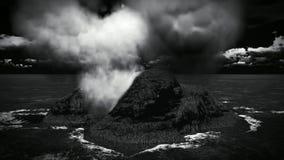 Erupción volcánica en la isla almacen de video