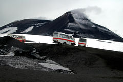 erupci Etna góra fotografia stock