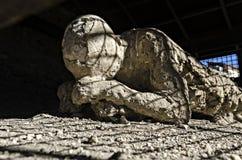Erupci ofiara Mt Vesuvius w Pompeii Zdjęcie Royalty Free