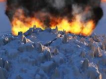 Erupción del volcán Foto de archivo libre de regalías