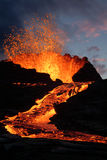 Erupción del volcán Fotos de archivo