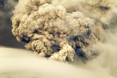 Erupción del volcán de Tungurahua Foto de archivo libre de regalías