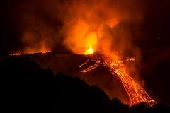 Erupcja Etna Fotografia Royalty Free