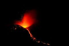 Erupcja Etna Zdjęcia Royalty Free