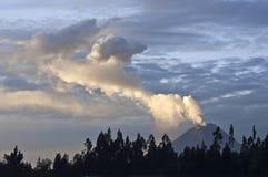 Erupcja wulkan Tungurahua w Ekwador Obraz Stock