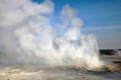 Erupting Clepsydra Geyser Stock Photography