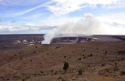Erupting crater, Hawaii Volcanoes Park Stock Image