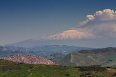 Erupting Etna Royalty Free Stock Photos