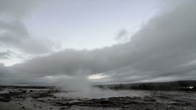 Erupting Geyser Stock Image
