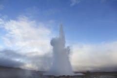 Erupting Geyser in Iceland Stock Photos