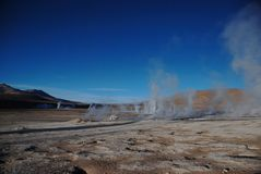 Erupting geysers Stock Photography