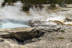 Erupting Geysir in Yellowstone Royalty Free Stock Images