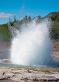 The erupting Strokkur Geysir Royalty Free Stock Image