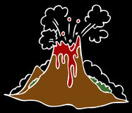 Erupting Volcano. An image of a exploding volcano on a black background Royalty Free Stock Photo