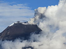 Erupting volcano Royalty Free Stock Photo