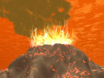 Eruption - 3D render Royalty Free Stock Images