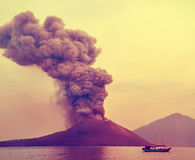 Eruption of Anak Krakatau- Stock Image
