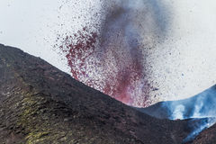 Eruption of 12 April 2012 Royalty Free Stock Photo