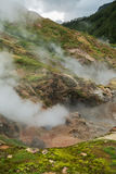 Eruption Bolshoy Big Geyser in Valley of Geysers. Kronotsky Nature Reserve on Kamchatka Peninsula stock photo
