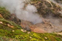 Eruption Bolshoy Big Geyser in Valley of Geysers. Royalty Free Stock Photos