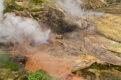 Eruption Bolshoy Big Geyser in Valley of Geysers. Royalty Free Stock Images