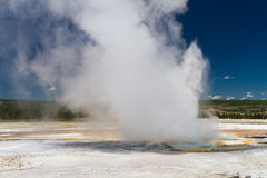 Eruption of Clepsydra Geyser Stock Images