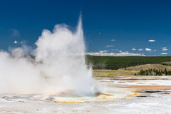 Eruption of Clepsydra Geyser Stock Image
