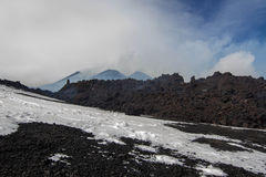 Eruption etna 2013 Royalty Free Stock Photography