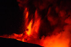 Eruption etna Stock Images