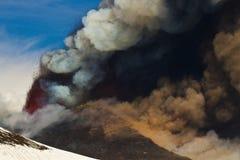 Eruption etna Royalty Free Stock Image