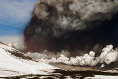 Eruption etna Stock Photos