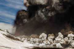 Eruption etna Royalty Free Stock Photos