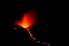Eruption of Etna Royalty Free Stock Photos