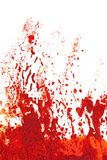Eruption or explosion in orange red paint. vector illustration