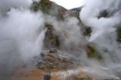 Eruption of a geyser Royalty Free Stock Photo