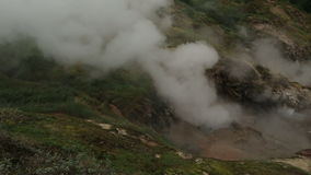Eruption of the geyser Bolshoy in Valley of Geysers. Kamchatka Peninsula in the summer stock video